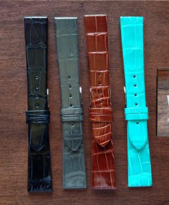 vintage crocodile straps made in italy