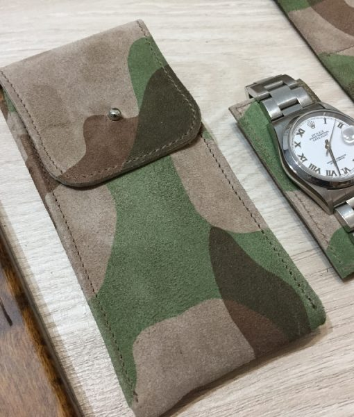 camouflage travel watch paouchette