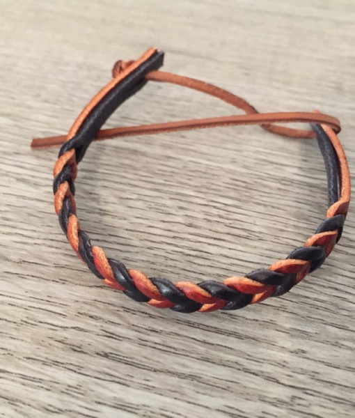 leather handcrafted bracelet