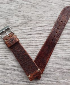 vintage rugged brown leather strap