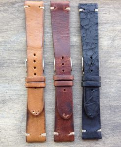vintage leather watch straps set