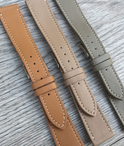 elegant luxury leather watch straps set