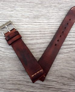 vintage leather watch strap made in italy