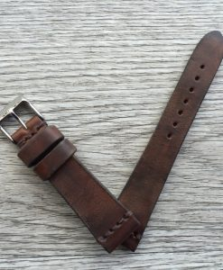 vintage brown leather band made in italy