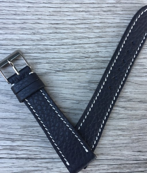 grained calfskin leather watch strap