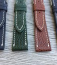 luxury elegant grained leather watch straps