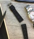 luxury rcing leather watch strap