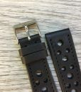handmade racer leather watch strap