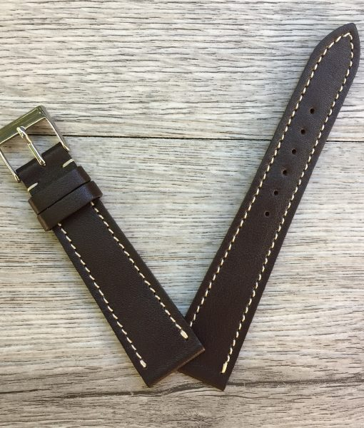 soft luxury leather watch strap