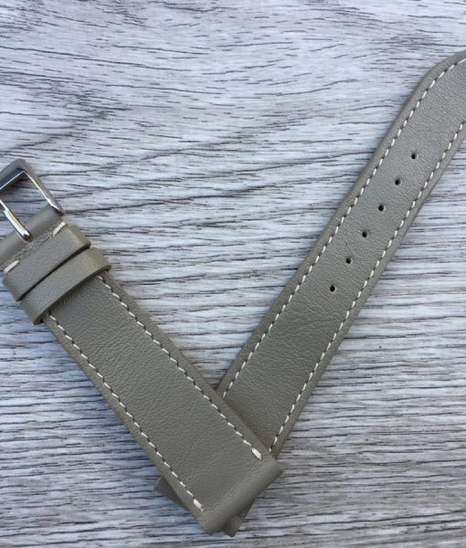 mid grey elegant soft watch strap