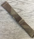 suede grey camouflage leather watch strap
