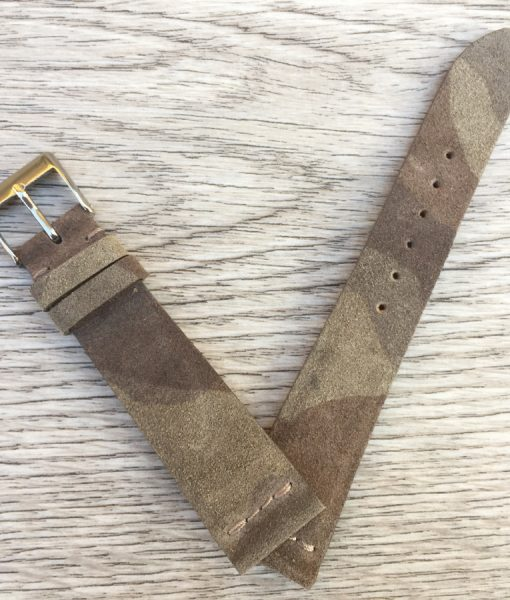 suede grey camouflage watch band