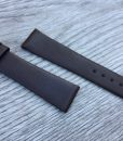 Classic smooth leather watch strap black
