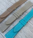 taupe mid brown light blue elegant leather watch straps